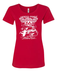 Route 66 America's Highway Women's T-Shirt The Mother Road Tee - Tee Hunt - 3