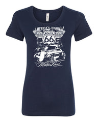Route 66 America's Highway Women's T-Shirt The Mother Road Tee - Tee Hunt - 5