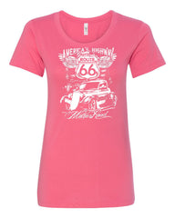 Route 66 America's Highway Women's T-Shirt The Mother Road Tee - Tee Hunt - 6