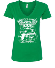 Route 66 America's Highway V-Neck T-Shirt The Mother Road - Tee Hunt - 9