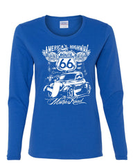 Route 66 America's Highway Long Sleeve T-Shirt The Mother Road - Tee Hunt - 4