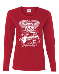 Route 66 America's Highway Long Sleeve T-Shirt The Mother Road - Tee Hunt - 5