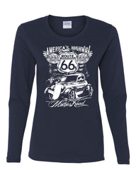 Route 66 America's Highway Long Sleeve T-Shirt The Mother Road - Tee Hunt - 6