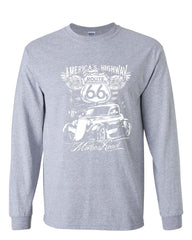 Route 66 America's Highway Long Sleeve T-Shirt The Mother Road - Tee Hunt - 3