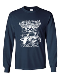 Route 66 America's Highway Long Sleeve T-Shirt The Mother Road - Tee Hunt - 7
