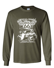 Route 66 America's Highway Long Sleeve T-Shirt The Mother Road - Tee Hunt - 8