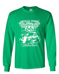 Route 66 America's Highway Long Sleeve T-Shirt The Mother Road - Tee Hunt - 9