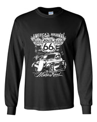 Route 66 America's Highway Long Sleeve T-Shirt The Mother Road - Tee Hunt - 2