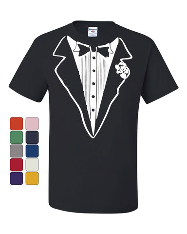 Tuxedo Funny T-Shirt Tux Bachelor Party Wedding Groom Tee Shirt