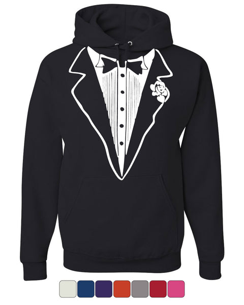 Tuxedo Funny Hoodie Tux Bachelor Party Wedding Groom Sweatshirt - Tee Hunt - 1