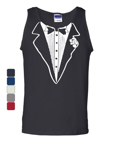 Tuxedo Funny Tank Top Tux Bachelor Party Wedding Groom Muscle Shirt