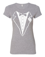 Tuxedo Funny Cotton T-Shirt Tux Wedding Party - Tee Hunt - 7