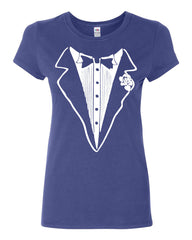 Tuxedo Funny Cotton T-Shirt Tux Wedding Party - Tee Hunt - 4