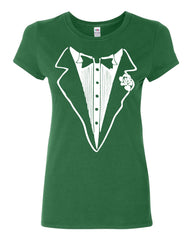 Tuxedo Funny Cotton T-Shirt Tux Wedding Party - Tee Hunt - 8