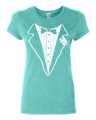 Tuxedo Funny Cotton T-Shirt Tux Wedding Party - Tee Hunt - 5