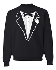 Tuxedo Funny Crew Neck Sweatshirt Tux Bachelor Party Wedding Groom