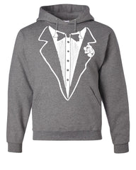 Tuxedo Funny Hoodie Tux Bachelor Party Wedding Groom Sweatshirt - Tee Hunt - 7