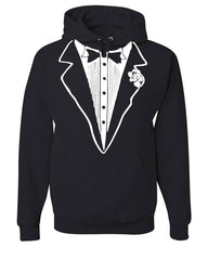 Tuxedo Funny Hoodie Tux Bachelor Party Wedding Groom Sweatshirt - Tee Hunt - 2