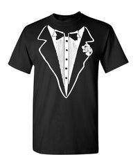 Tuxedo Funny T-Shirt Tux Bachelor Party Wedding Groom Tee Shirt - Tee Hunt - 2