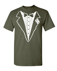 Tuxedo Funny T-Shirt Tux Bachelor Party Wedding Groom Tee Shirt - Tee Hunt - 10