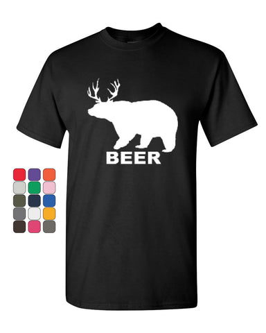Bear + Deer = Beer Funny Drinking T-Shirt Beer Tee Shirt - Tee Hunt - 1