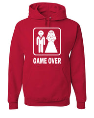 Game Over Funny Hoodie Groom And Bride Wedding Sweatshirt - Tee Hunt - 5