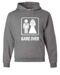 Game Over Funny Hoodie Groom And Bride Wedding Sweatshirt - Tee Hunt - 7