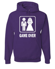 Game Over Funny Hoodie Groom And Bride Wedding Sweatshirt - Tee Hunt - 3