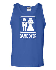 Game Over Funny Tank Top Groom And Bride Wedding Muscle Shirt - Tee Hunt - 3