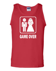 Game Over Funny Tank Top Groom And Bride Wedding Muscle Shirt - Tee Hunt - 5