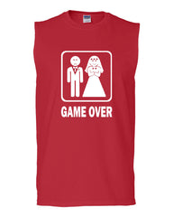Game Over Funny Muscle Shirt Groom And Bride Wedding - Tee Hunt - 5