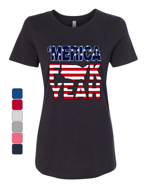 AMERICA F*CK YEAH T-Shirt  4th Of July Patriotic Tee Shirt - Tee Hunt - 1