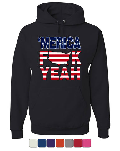 AMERICA F*CK YEAH Hoodie  4th Of July Patriotic Sweatshirt - Tee Hunt - 1
