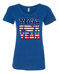 AMERICA F*CK YEAH T-Shirt  4th Of July Patriotic Tee Shirt - Tee Hunt - 4