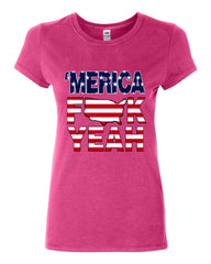AMERICA F*CK YEAH Cotton T-Shirt  4th Of July Patriotic - Tee Hunt - 6