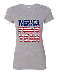 AMERICA F*CK YEAH Cotton T-Shirt  4th Of July Patriotic - Tee Hunt - 7