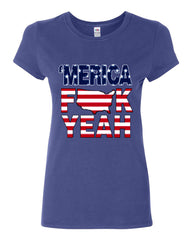 AMERICA F*CK YEAH Cotton T-Shirt  4th Of July Patriotic - Tee Hunt - 4