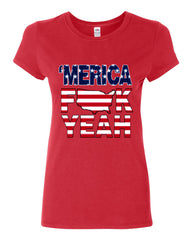 AMERICA F*CK YEAH Cotton T-Shirt  4th Of July Patriotic - Tee Hunt - 3