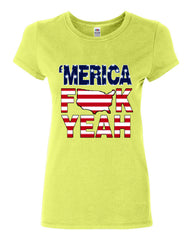 AMERICA F*CK YEAH Cotton T-Shirt  4th Of July Patriotic - Tee Hunt - 11
