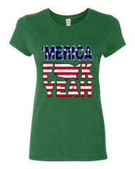 AMERICA F*CK YEAH Cotton T-Shirt  4th Of July Patriotic - Tee Hunt - 10