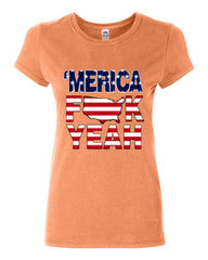 AMERICA F*CK YEAH Cotton T-Shirt  4th Of July Patriotic - Tee Hunt - 9