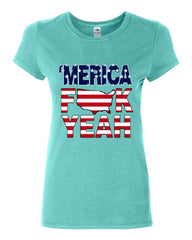 AMERICA F*CK YEAH Cotton T-Shirt  4th Of July Patriotic - Tee Hunt - 5