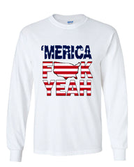 AMERICA F*CK YEAH Long Sleeve T-Shirt  4th Of July Patriotic - Tee Hunt - 3