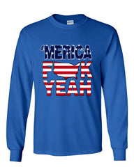 AMERICA F*CK YEAH Long Sleeve T-Shirt  4th Of July Patriotic - Tee Hunt - 5