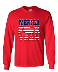AMERICA F*CK YEAH Long Sleeve T-Shirt  4th Of July Patriotic - Tee Hunt - 6
