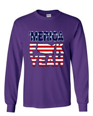 AMERICA F*CK YEAH Long Sleeve T-Shirt  4th Of July Patriotic - Tee Hunt - 7