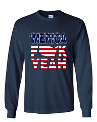 AMERICA F*CK YEAH Long Sleeve T-Shirt  4th Of July Patriotic - Tee Hunt - 8