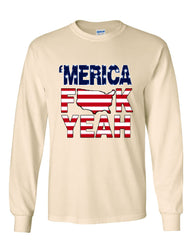 AMERICA F*CK YEAH Long Sleeve T-Shirt  4th Of July Patriotic - Tee Hunt - 9