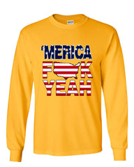 AMERICA F*CK YEAH Long Sleeve T-Shirt  4th Of July Patriotic - Tee Hunt - 13
