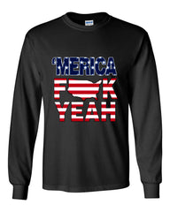 AMERICA F*CK YEAH Long Sleeve T-Shirt  4th Of July Patriotic - Tee Hunt - 2